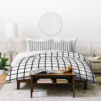 Little Arrow Design Co Monochrome Grid Duvet Cover Set