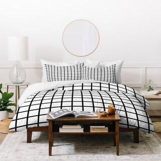 Little Arrow Design Co Monochrome Grid Duvet Cover Set