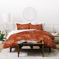 Deny Designs Sienna Floral Line Work Duvet Cover Set (3-Pieces)