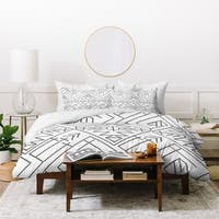 Vy La Cross Diamond Black Duvet Cover Set