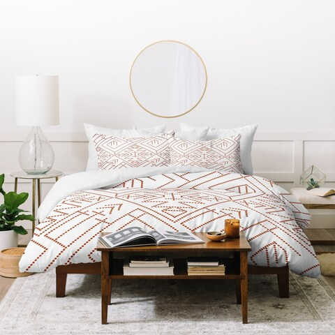 Deny Designs Cross Diamond Rust Duvet Cover Set (3-Piece Set)