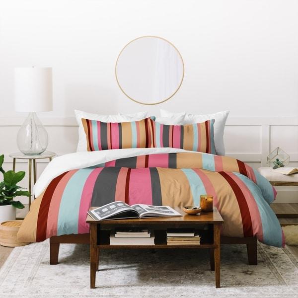 Natalie Baca Baja Mexicali Stripe Duvet Cover Set