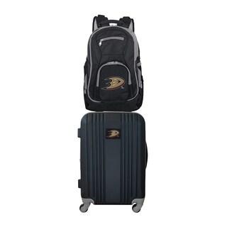 NHL Anaheim Ducks 2 Piece Set Luggage and Backpack