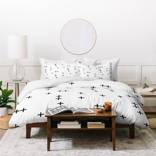 Little Arrow Design Co Cross on White Duvet Cover Set