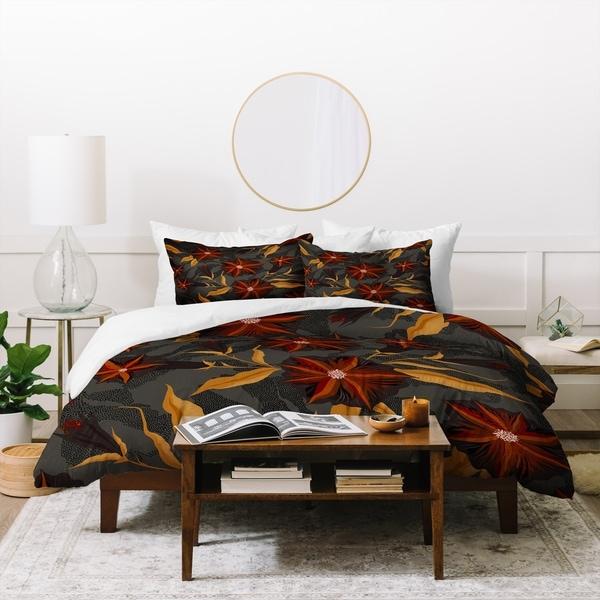 Deny Designs Bold Floral Duvet Cover Set (3-Piece Set)