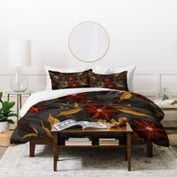Deny Designs Bold Floral Duvet Cover Set (3-Piece Set)