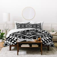 Amy Sia Tribe Black and White 1 Duvet Cover Set