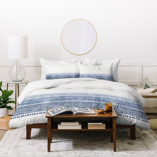 Deny Designs Blue Stripes Duvet Cover Set (3-Piece Set)
