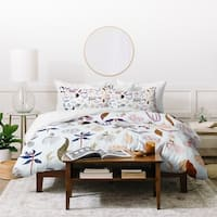 Deny Designs Garden Floral Duvet Cover Set (3-Piece Set)