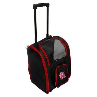 MLB St Louis Cardinals Pet Carrier Premium bag with wheels