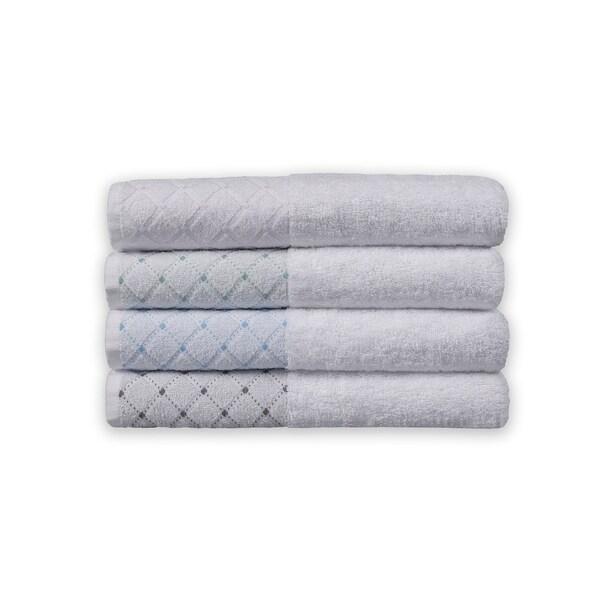 Eileen West 6 Piece Jacquard Border Towel Sets. Opens flyout.