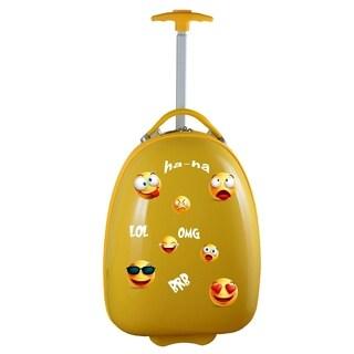 Emoji Kids Pod Luggage in Yellow