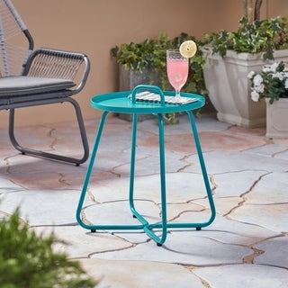 Madelyn Outdoor Aluminum Side Table by Christopher Knight Home