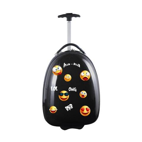 Emoji Kids Pod Luggage in Black