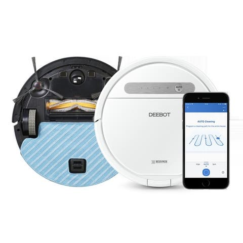 ECOVACS DEEBOT OZMO 610 2-in-1 Multi-Surface Vacuuming and Mopping Robot