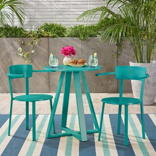 Haiti Outdoor Iron Bistro Set by Christopher Knight Home
