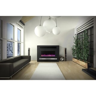 Napoleon Alanis Electric Fireplace TV Stand Entertainment Package with Media Storage