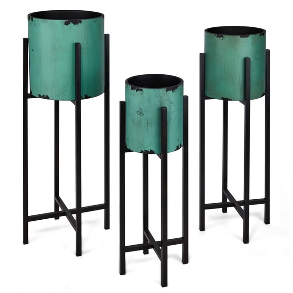 Shop Catchy Magnesium Oxide Amp Wrought Iron Planters