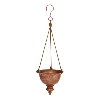 Metal & Rope, Lustrous Rope Hanging Planter, Copper