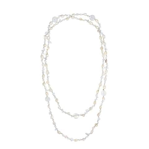 Handmade Versatile Long Stones Link Necklace (Thailand)