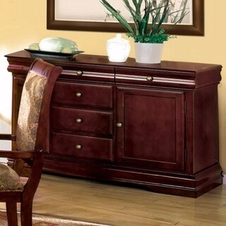 Wooden Server with spacious storage, Brown