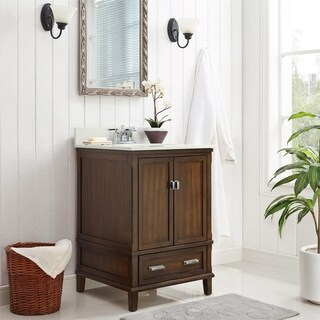 Avenue Greene Konnor Dark 24-inch Bathroom Vanity