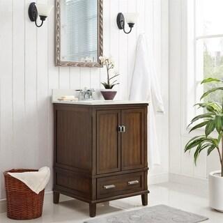Avenue Greene Konnor Dark 24-inch Bathroom Vanity (3 options available)