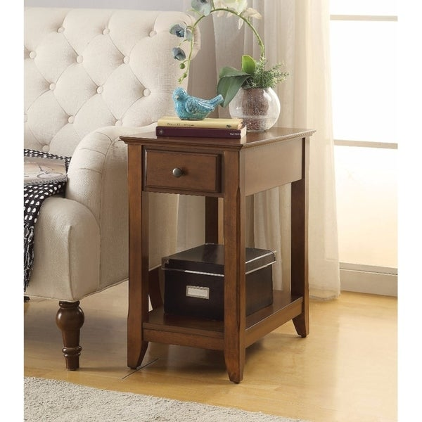 Smart Looking Side Table, Walnut Brown