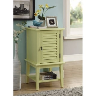 Smart Looking Side Table With 1 Drawer and Door, Light Yellow
