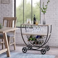 "Ink and Ivy Branford Grey Bar Cart - 33.25""w x 20""d x 32""h"