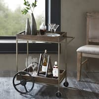 "Ink and Ivy Branford Brown Bar Cart - 30""w x 21""d x 31.5""h"