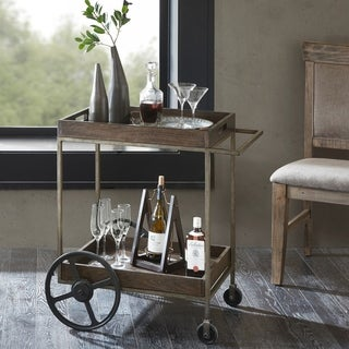 Ink and Ivy Branford Brown Bar Cart