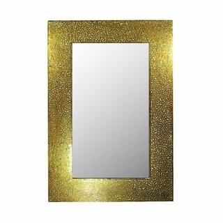 Mosaic Rectangular Mirror, Gold - N/A