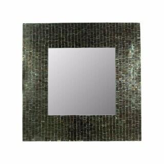 Mosaic Square Mirror, Gray - N/A