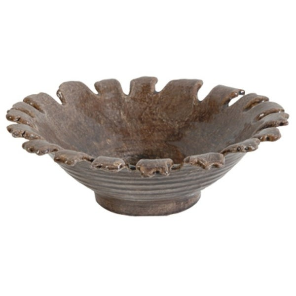 Decorative Ceramic Plate, Brown
