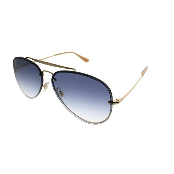 0db736c03 Ray-Ban Aviator RB 3584N Blaze Aviator 001/19 Unisex Gold Frame Light Blue  Gradient Lens Sunglasses