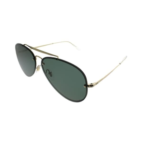 15a43c0ef41 Shop Ray-Ban Aviator RB 3584N Blaze Aviator 905071 Unisex Gold Frame Green  Lens Sunglasses - Free Shipping Today - Overstock - 21466071