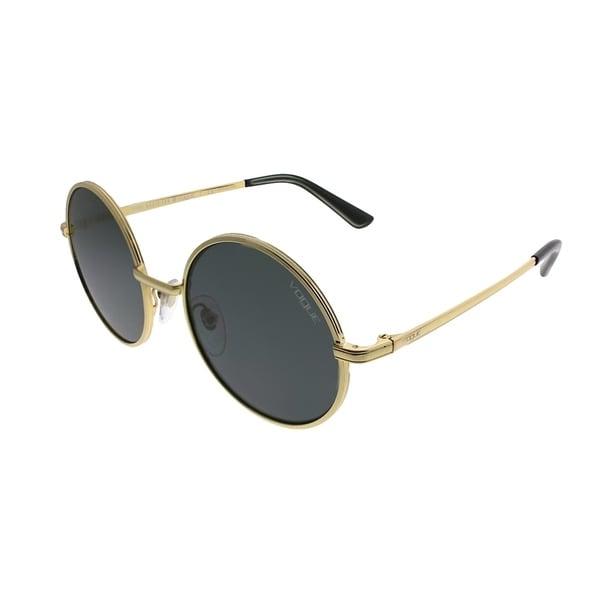 f72cf1d0ee4 Vogue Eyewear Round VO 4085S Gigi Hadid For Vogue 280 87 Women Gold Frame  Grey