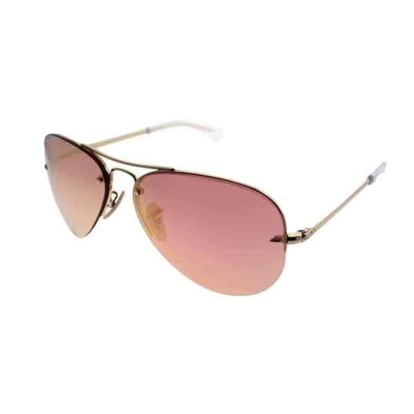 6511e2bcf2b5fa Ray-Ban Aviator RB 3449 001 E4 Unisex Gold Frame Copper Lens Sunglasses