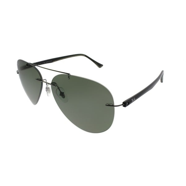 740e4326d10 Ray-Ban Aviator RB 8058 004 9A Unisex Gunmetal Frame Green Polarized Lens  Sunglasses