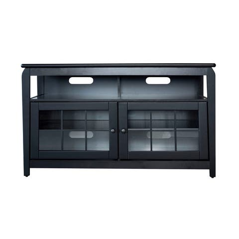 "AmeriHome 48"" Wood Television Stand - Black"
