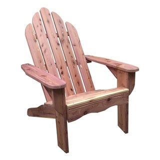 AmeriHome Amish Made Adirondack Chair - Cedar Brown Unfinished