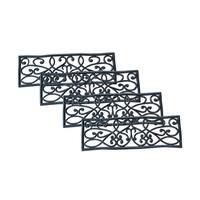 AmeriHome Rubber Scrollwork Stair Tread - 4 Pack