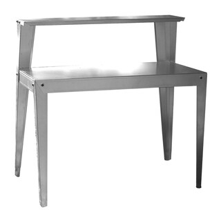 Offex Commercial Multi Use Galvanized Steel Work Bench - Silver