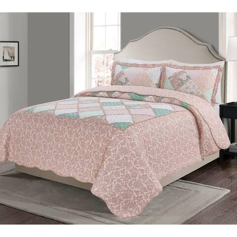 Asher Home Bella 3-piece Quilt Set