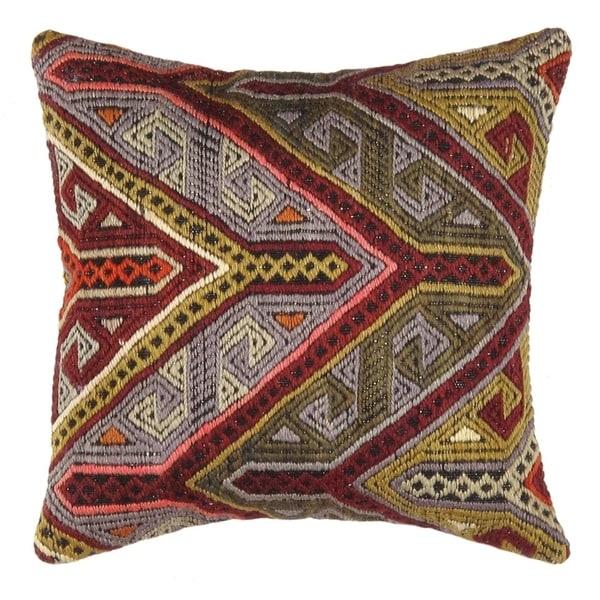 "Pasargad Vintage Turkish Multi Kilim Pillow (16"" X 16"")"
