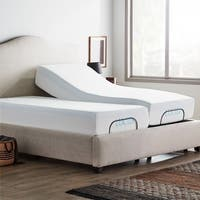 LUCID Comfort Collection 12-inch Queen-size Gel Memory Foam Mattress with L100 Adjustable Bed Base