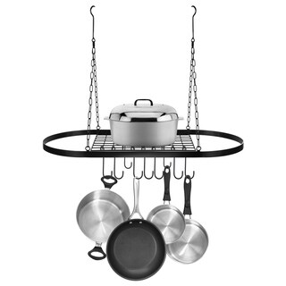 Ceiling mounted Pot Rack with Hooks