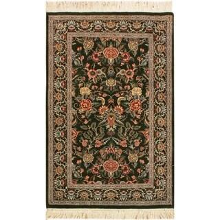 Gasvin Pak-Persian Nicola Green/Gray Wool Rug (2'6 x 4'3) - 2 ft. 6 in. x 4 ft. 3 in.
