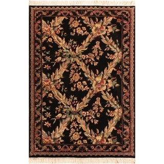 "Abusson Pak-Persian Ken Black/Tan Wool Rug (3'0 x 4'11) - 3' 0"" x 4'11"""